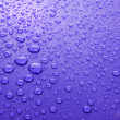 Blue water drops background with big and small drops — Stock Photo