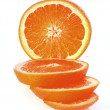 Sliced orange isolated  on  white background — Stock Photo
