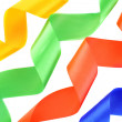 Royalty-Free Stock Photo: Color ribbons on a white background