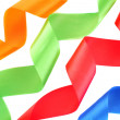 Color ribbons on a white background — Stock Photo