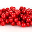 Shiny red beads — Stock Photo
