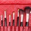 Royalty-Free Stock Photo: Bag of makeup brushes