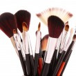 Royalty-Free Stock Photo: Cosmetic brushes on white