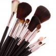Cosmetic brushes on white — Stock Photo #6669390