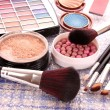 Many colourful woman cosmetics  — Stock Photo