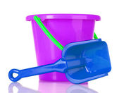 Baby toy bucket and shovel — Stock fotografie