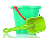 Baby toy bucket and shovel — Stok fotoğraf