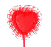 Red heart on a white background — Stock Photo