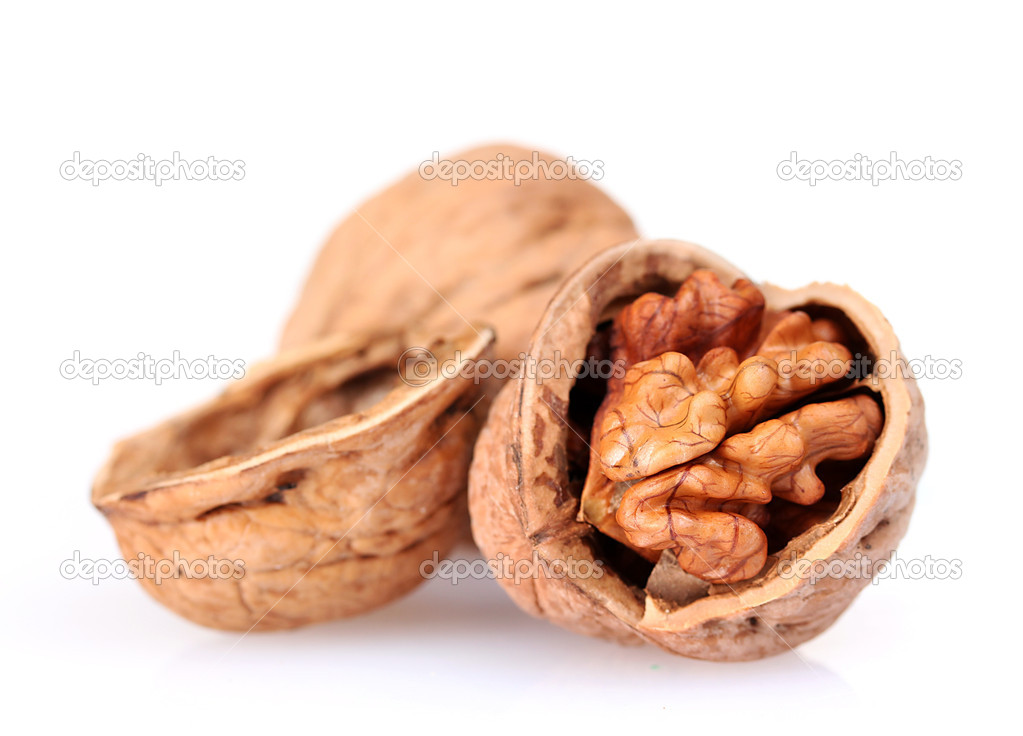 Tasty walnuts isolated on white — Stock Photo #6660002
