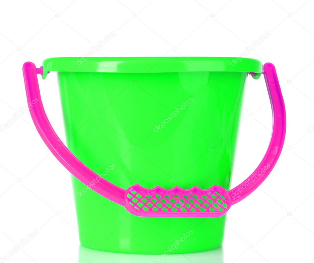 Baby toy bucket isolated on white — Stock Photo #6660215