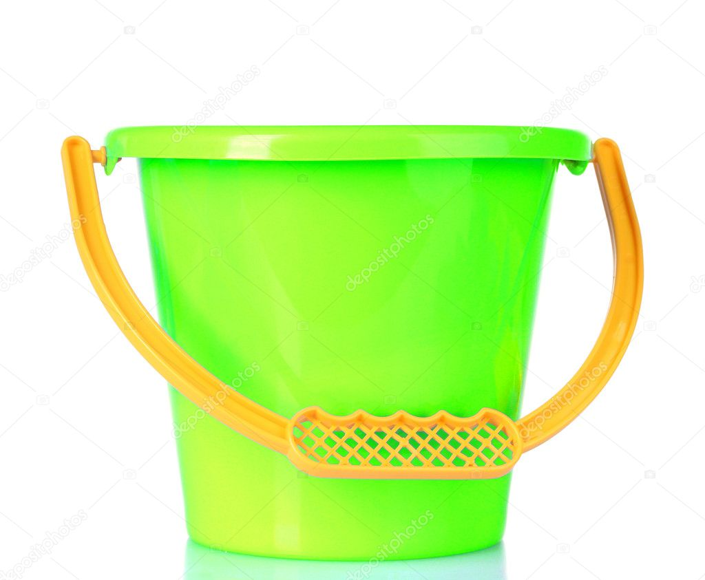 Baby toy bucket isolated on white — Stock Photo #6660217
