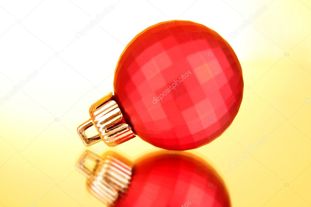 Christmas toy on yellow background — Stock Photo #6660667