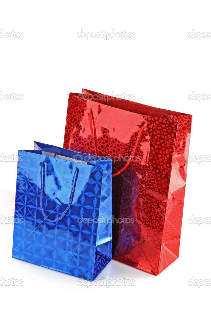 Colorful shopping bags isolated on white background  Stock Photo #6661321