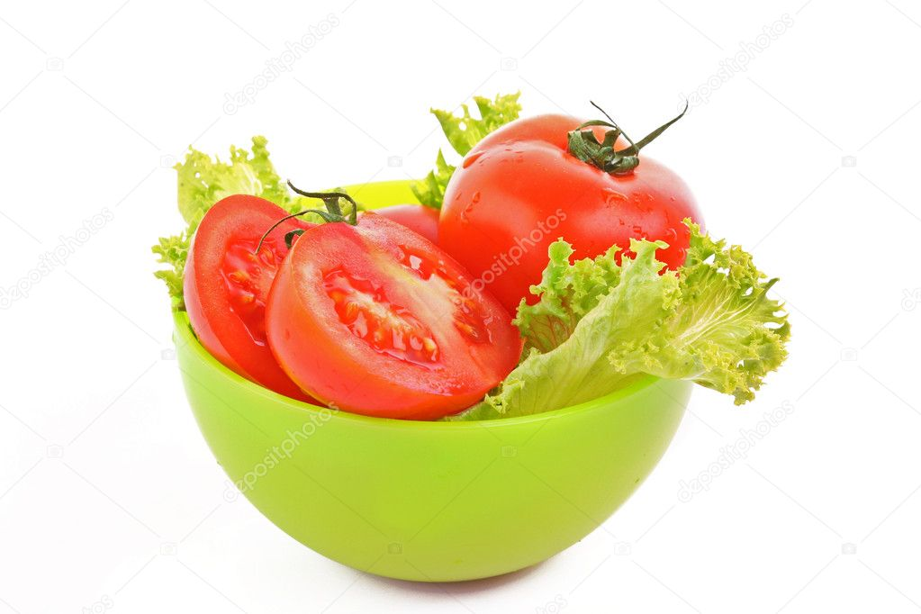 Red tomato  vegetables   isolated on white background — Stock Photo #6661432