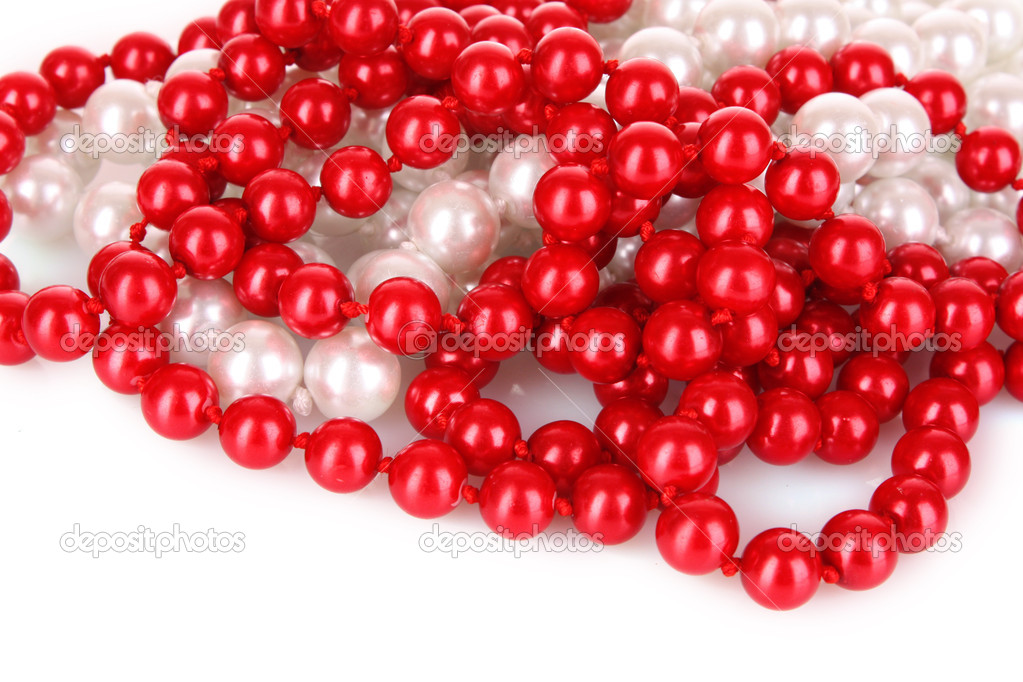 Shiny red beads — Stock Photo #6668853