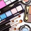 Stock Photo: Many professional cosmetics for make up