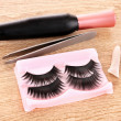 False lashes and mascaron table — Stok Fotoğraf #6674852
