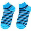 Blue striped socks — Stock Photo