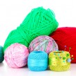 Stock Photo: Bright balls of thread