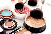 Many professional cosmetics for make up — Stock Photo