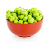Green peas isolated on white — Stock Photo