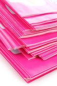 Many pink magazines — Stock Photo