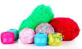 Bright balls of thread — Stock Photo