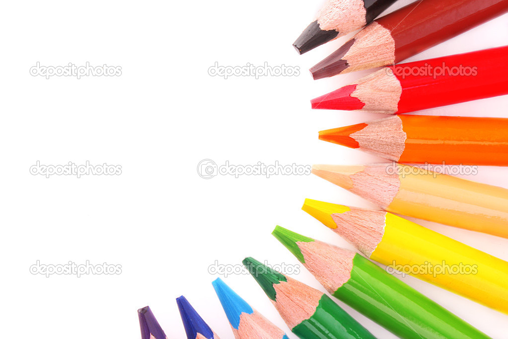 Color pencils isolated on white background — Stock Photo #6679592