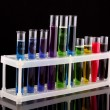 Royalty-Free Stock Photo: Test tubes on black background