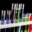 Stock Photo: Test tubes on black background