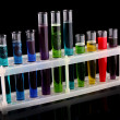 Test tubes on black background — Stock Photo #6680197