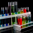 Test tubes on black background — Stock Photo #6680204