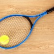 Tennis equipment — Stock Photo