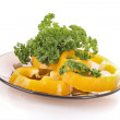 Orange pepper and parsley on white background — Stock Photo #6680254