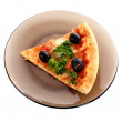 Stock Photo: Tasty pizzwith olives