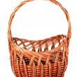 Empty wicker basket isolated on white — Stock Photo #6686338