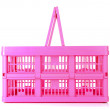 Pink shopping basket - Stock Photo