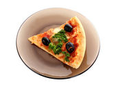 Tasty pizza with olives — Stock Photo