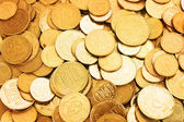 Gold coins as a background — Stock Photo