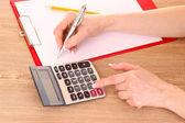 Pisanie i kalkulator — Zdjęcie stockowe