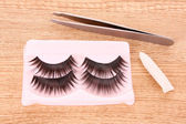 False lashes on the table — Stock Photo