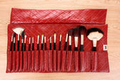 Brush set for make-up — Stock Photo