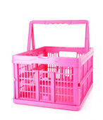 Pink shopping basket — Stock Photo