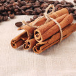 Coffee and vanilla background — Stock Photo