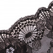 Lace closeup isolated on white — Stock Photo