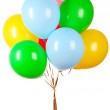 Flying balloons isolated on white — Stock Photo #6708838
