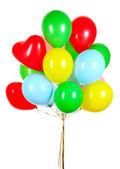 Flying balloons isolated on white — Stockfoto