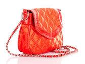 Orange women bag isolated on white background — Stock Photo