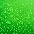Green water drops background — Stock Photo #6710473