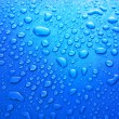 Blue water Drops background — Stock Photo #6710482